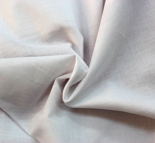 Плат памук дюс - воал бял