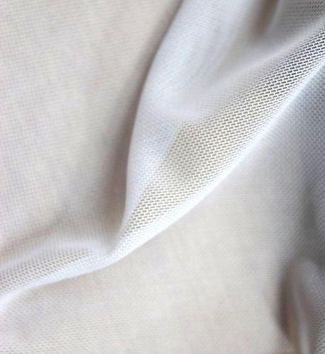 Тюл двойно еластичен дюс - бял