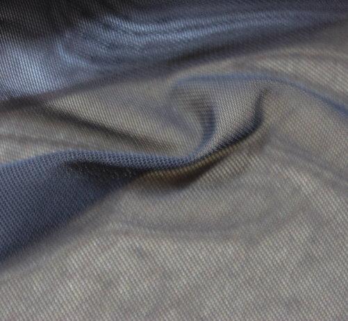 Тюл двойно еластичен дюс - черен