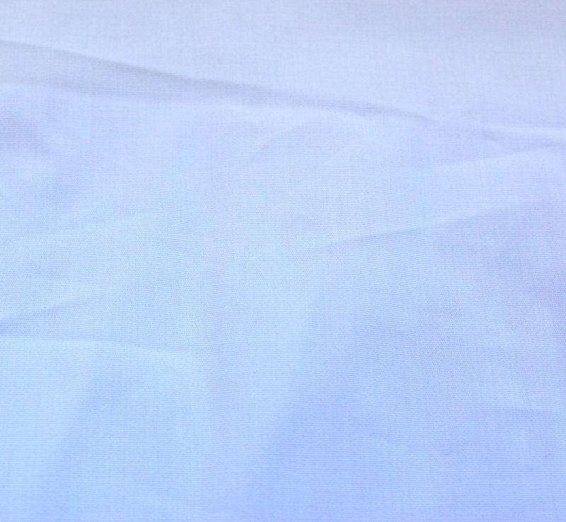 Плат поплин еластичен плътен - бял