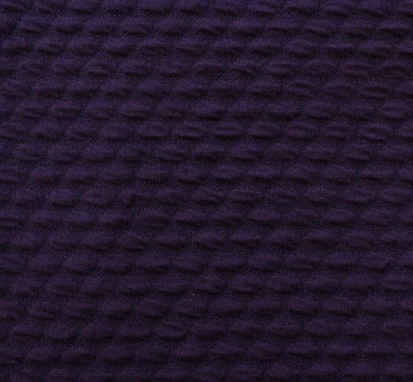 Трико жакард - релефно тъмно лилаво