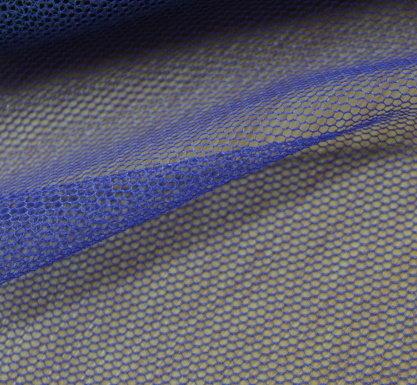 Тюл еластичен дюс - кралско синьо
