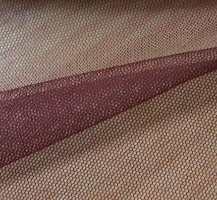 Тюл еластичен дюс - бордо