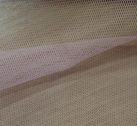 Тюл еластичен дюс - бледо розов