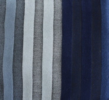 Плат кашмир райе - Омбре синьо - сиво