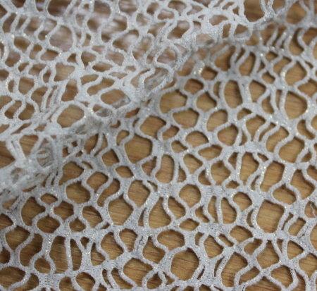 Мрежа памук - екрю със златен фойл