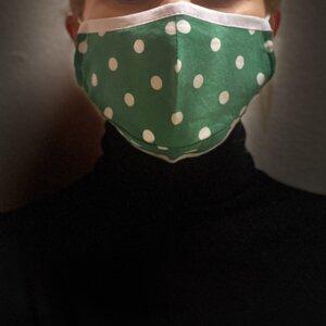 Двупластова памучна маска - Точки