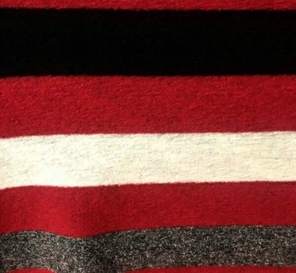 Вълнен плат TWIN-SET - райе сиво,червено, бяло