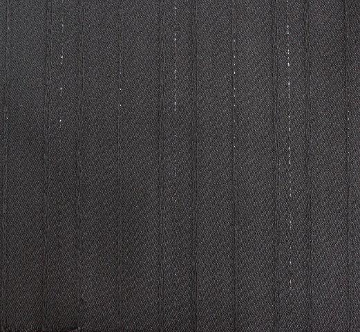 Плат габардин - Черен със сребристи нишки