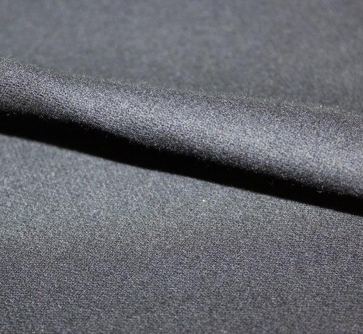 Плат габардин  - вълнен черен