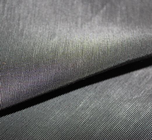 Плат габардин викоза рипс - черен
