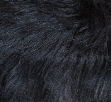 Еко кожа с дълъг косъм - Черна 1