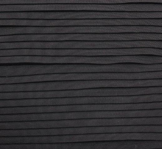 Плат шифон - Черен плисе