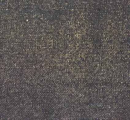 Лен дюс -черен със златен фойл