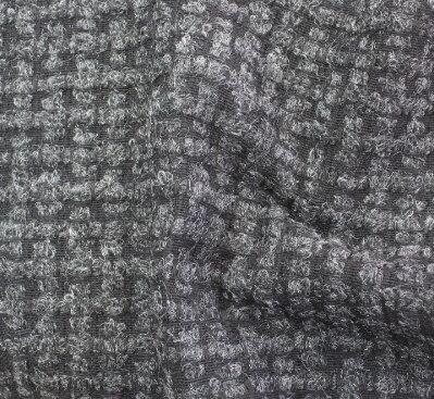 Плат вълнен букле - Сиво релеф