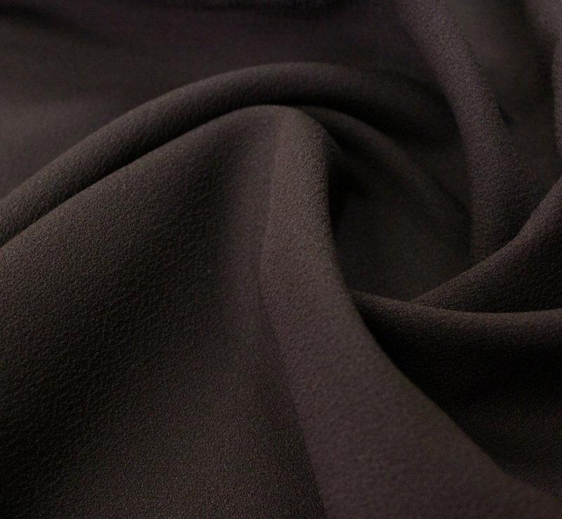 Плат жоржет не еластичен дюс - кафяво
