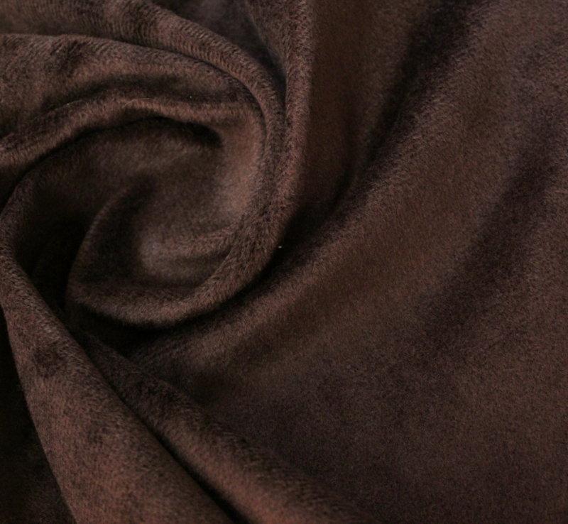 Кадифе плюш не еластично - кафяво