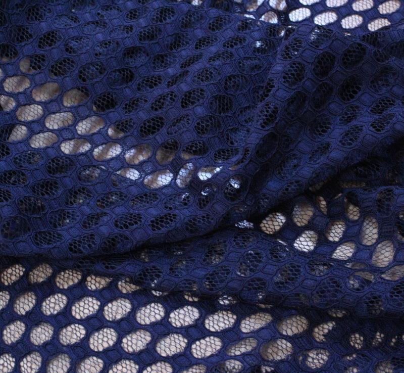 Дантела релеф фигури - тъмно синьо