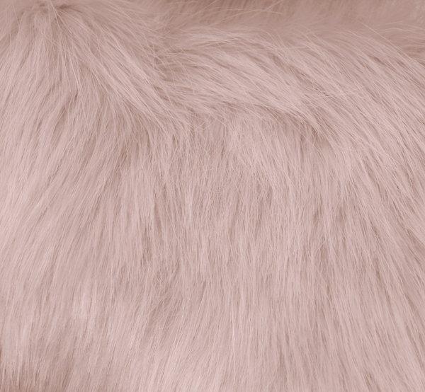 Еко кожа дълъг косъм - нежно розово