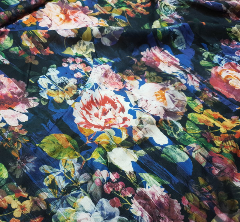 Памук щампа - рози 1