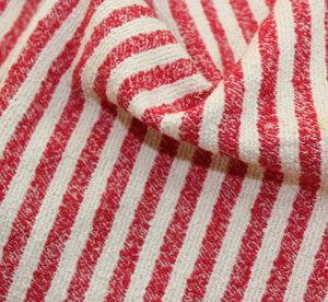 Букле райе - бяло с червено