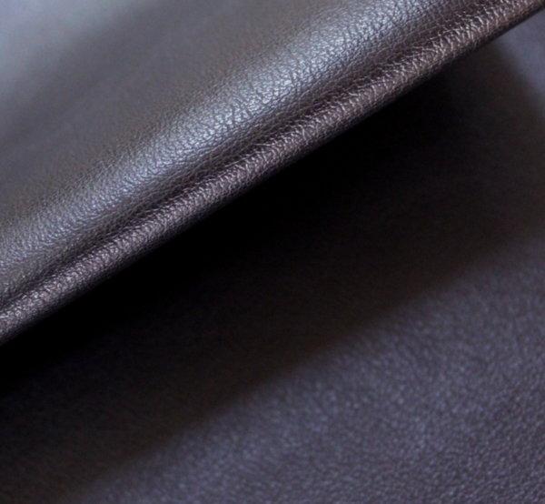 Еко кожа еластична - черна с памучен гръб
