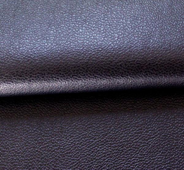 Еко кожа еластична - черна с трико гръб