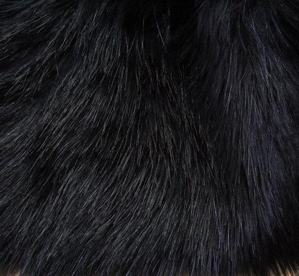 Еко кожа с косъм - черна