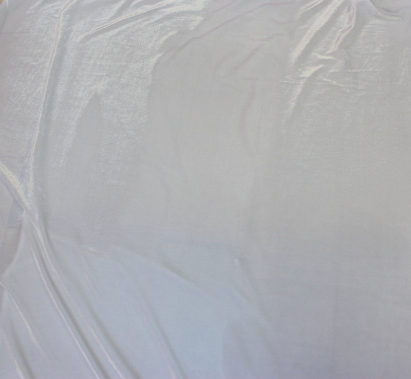 Кадифе плюш коприна - бяло/ 1,30м.