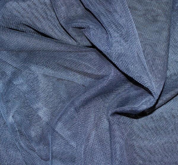 Тюл еластичен - тъмносин
