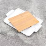 Плато с бамбукова дъска M&G Homes, Правоъгълник, 32 см, 1 бр