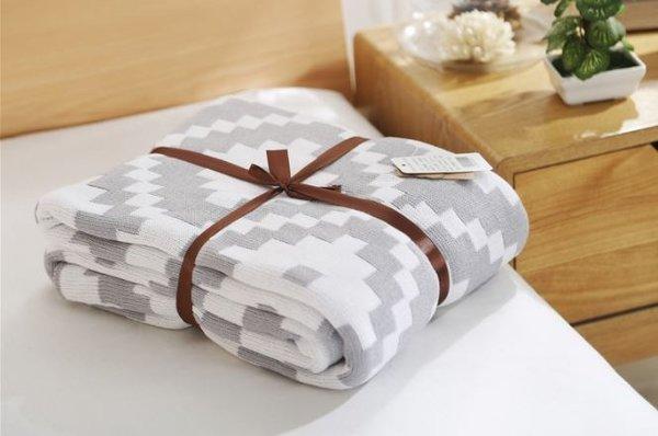 Памучно одеяло Аспарагус ромб
