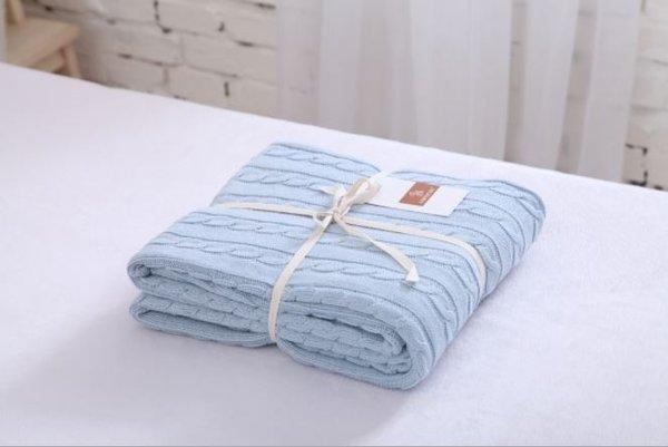 Памучно одеяло Genna Farm синьо