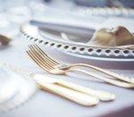 Комплект прибори за хранене M&G Homes Gold, 24 бр