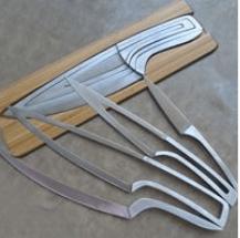 Комплект стоманени ножове Deglon Art Rep, 4 бр