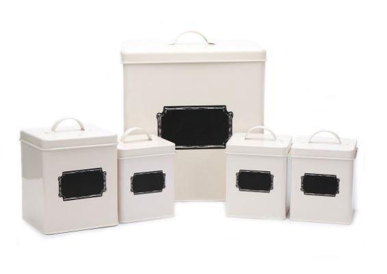 Комплект кутии за съхранение Homes Storage Cream, 5 бр