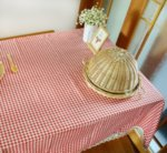 Покривка за маса Каре Кафява, 90 х 90 см