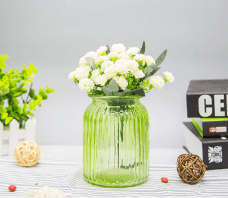 Стъклена ваза Буркан, Зелен