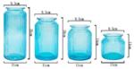 Стъклена ваза Буркан, Безцветена