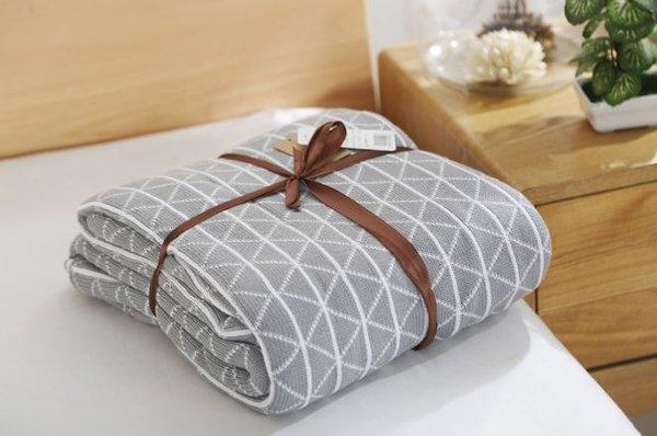 Памучно одеяло Аспарагус мрежа