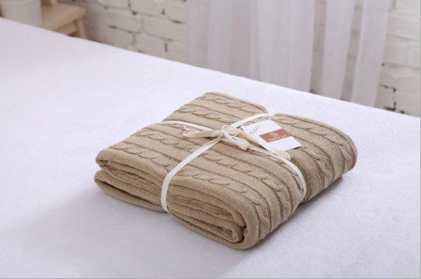 Памучно одеяло Genna Farm кафяво