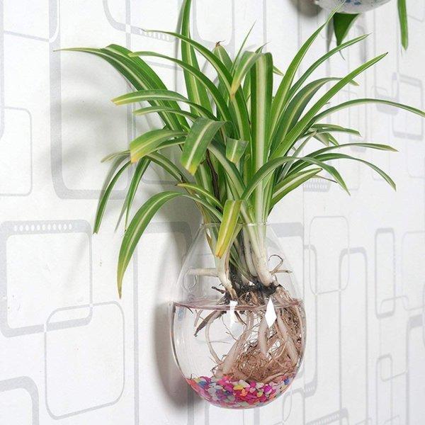 Висяща стъклена ваза Wall, 12см