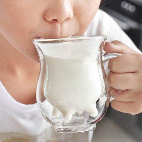 Стъклена Чаша за Мляко с Двойно стъкло, 1 бр