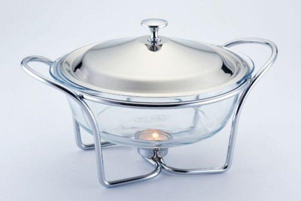 Йенски съд за топло сервиране на храна Practical Morello, кръгъл, 2л
