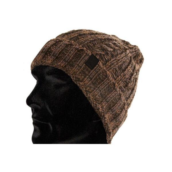 Winter Hat Fox CAMO BLACK KNIT BEANIE