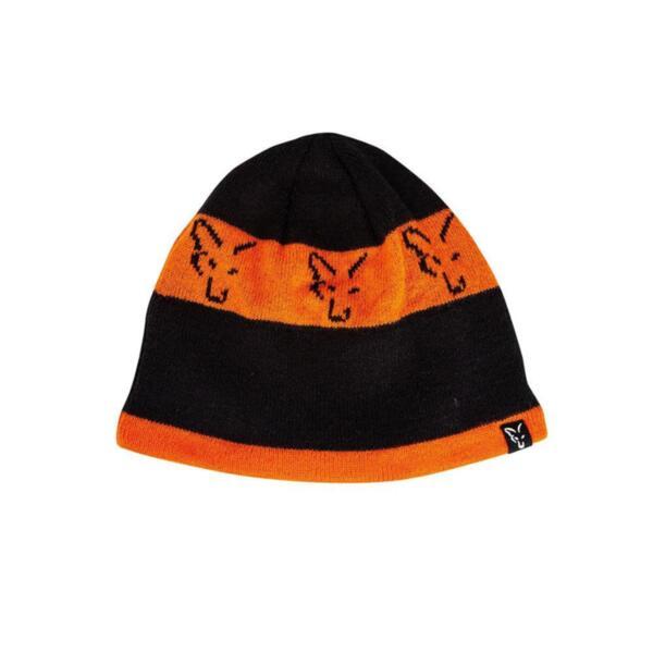Winter Hat Fox BLACK & ORANGE BEANIE