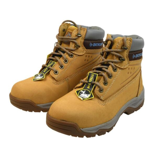 Dunlop ON SITE LADIES STEEL TOE CAP SAFETY BOOTS Honey