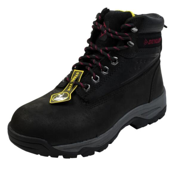 Dunlop ON SITE LADIES STEEL TOE CAP SAFETY BOOTS Black