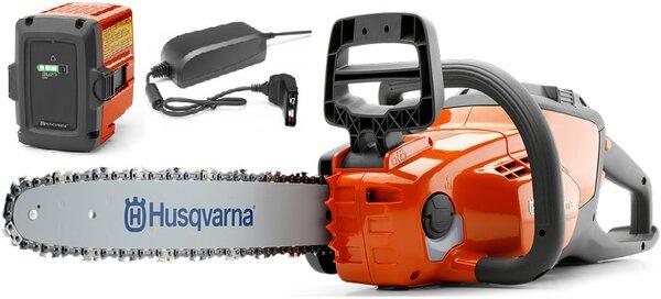 Акумулаторен верижен трион 36V Husqvarna 120i Комплект с батерия и зарядно