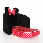 Детски разтегателен фотьойл в червено и черно
